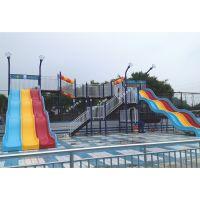 水上滑梯戏水小品玻璃钢滑梯彩虹滑道水上滑道可加工定做