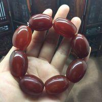 厂家直销供应东北天然红玛瑙桶珠玉石手链会销礼品玉器手串批发