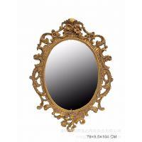 古典风格铜镜 高档别墅复古装修适用 仿古铜件镜子 法式古典挂件
