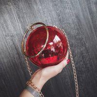 2018新款链条亚克力包透明包包女包小圆球斜挎包迷你包夏季手提包
