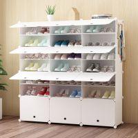 防尘隔层鞋架多层塑料鞋柜 简易简约现代组装经济型家用门厅柜