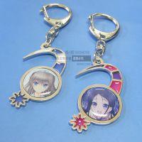 供应日本动漫美少女钥匙扣 印刷滴胶贴片钥匙扣挂件