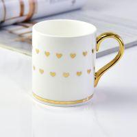唯奥陶瓷定制创意陶瓷金把马克水杯 公司活动礼品广告咖啡茶杯加logo