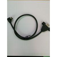 电子产品USB3.1 20P TO USB3.0挡板线 带锁扣3.0A母 TO90度3.1工控线