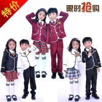 儿童大合唱演出服中小学生诗歌朗诵长袖英伦风男童女童校服表演服