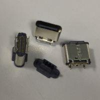 TYPEC 立贴母座 USB 3.1 24P直立式贴片母座 高度6.5 插板+贴板 TYPEC 立式