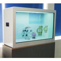 爱镭仕65寸透明展示柜触摸透明柜子红外触摸透明展示柜厂家直销