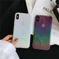 简约水珠彩虹透明壳苹果X手机壳iphone7plus/8/6S全包硬壳女款潮