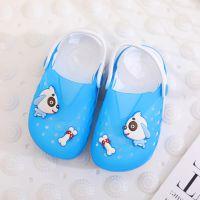 夏季小狗吃骨头儿童果冻鞋卡通韩版男女童宝宝穿拖两用量拖鞋包头