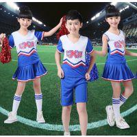 啦啦操演出服装拉拉队比赛舞蹈表演服男女儿童学生亮片短裙健美操