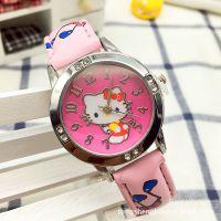 hello kitty儿童手表Kt猫女孩女生皮革手表 (厂家直销)