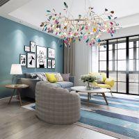 北欧现代风格个性创意玛瑙吊灯卧室客厅灯样板房软装设计师灯具