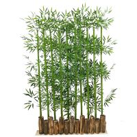 仿真竹子室内装饰屏风隔断竹林造景客厅阳台多规格加密仿真竹盆栽