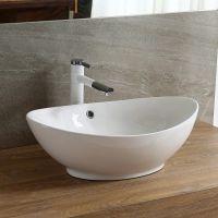 潮州卫浴元宝形白色台上独特陶瓷洗手盆艺术盆