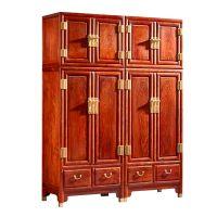 花梨木刺猬紫檀家具卧室衣柜款式报价 名琢世家品牌