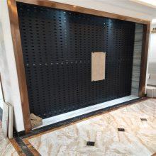 瓷砖方孔板展示架 800地砖冲孔网 陶瓷网孔板展架厂家