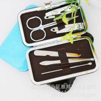 美甲美容工具套装 眉夹指甲刀耳勺指甲锉6件套 小商品批发