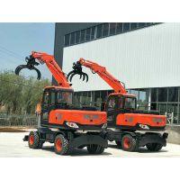 山东中建生产 CS-90型轮式抓木机 轮式挖掘机