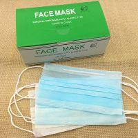 大量直销中性英文包装两层一次性无纺布防汽车尾气防尘口罩