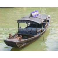 仿古做旧木船单篷船乌篷船摇橹船景区观光船手划船摄影道具船
