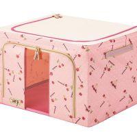 钢架收纳箱牛津布特大号塑料窗衣物盒整理箱被子衣服储物箱