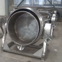 诸城神州定制304不锈钢蒸汽夹层锅 各种型号夹层锅 可倾式蒸煮锅
