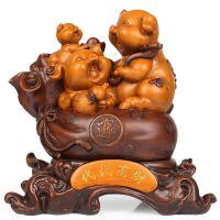 本命年新款吉祥猪工艺品摆件硅胶模具定制火锅店内创意招财猪摆件模具