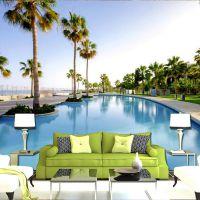 3D立体海景延伸风景墙纸沙发客厅电视背景大型壁画酒店房民宿壁纸