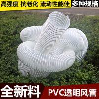 供应180mm透明塑料加强筋软管 通风管 除尘排尘管 工业机械吸尘管