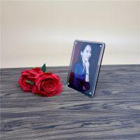 定制亚克力创意相框可装拆强磁简约A5A6欧式儿童照片展示桌面摆台
