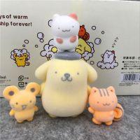 日本卡通公仔摆件系列~植绒布丁狗 叠叠乐玩偶摆饰 4款彩色盒装
