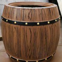 水泥仿木纹花箱花桶 道路绿化工程专用大小组合景观花桶 厂家低价供应