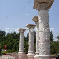 山东厂家全国直销石雕龙柱 广场大理石柱子