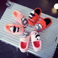 厂家直销秋冬新款可爱小熊儿童包跟棉拖鞋绒面保暖童家居拖鞋
