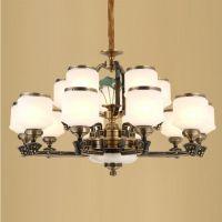 新款新中式吊灯锌合金玉石中国风奢华灯饰餐厅灯具客厅灯一件代发