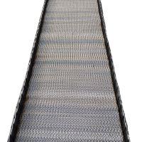 卓远厂家出售高密度网带 坚果食品挡板人字形输送带欢迎订购