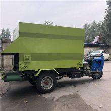 全日制粮牛场撒料车 加厚钢板制作撒料车 浩发