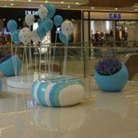 商场中庭玻璃钢雕塑摆件 玻璃钢美陈气球