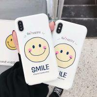 ins原宿风笑脸iphonex手机壳简约个性光面smile冷光机壳苹果7防摔