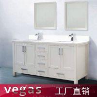浴室柜厂家出口pvc欧式卫生间洗手盆组合柜 落地式白色浴室柜定制
