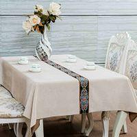 欧式美式桌布布艺棉麻新古典现代中式高档餐桌茶几桌布艺定制
