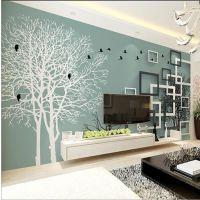 墙布素色现代大型壁画简约3d立体壁纸唯美素雅墙纸客厅电视背景墙
