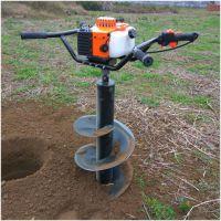 保定汽油二冲四冲程挖洞机 植树挖眼机速度快