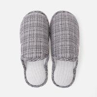 短毛绒棉麻拖鞋女冬季家居保暖防滑软底拖鞋男 EVA鞋底