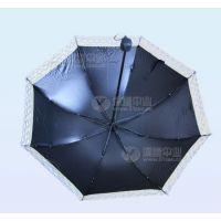 超轻三折遮阳伞、黑胶防紫外线折叠伞、遇水开花太阳伞