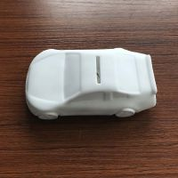新品首发 DIY塑胶汽车儿童涂画手工彩绘搪胶白模涂鸦玩具礼品