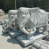 厂家直销石雕石头工艺品 石头大象头园林广场喷泉装饰挂件