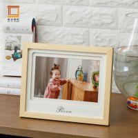 厂家直销 热卖实木韩式卡纸创意相框摆台 影楼儿童用摆台组合批发