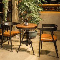 多功能室座椅阳台清吧咖啡厅餐桌椅组合售楼处整套简约洽谈奶茶店