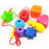 2343创意小号10件装儿童DIY串珠可爱宝宝穿珠子早教玩具批发196